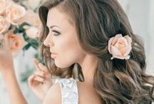 Bridal half-up & all down / So you don't want your hair all up? Here is some inspiration for half-up and all down styles for your wedding day! Loose romantic curls, natural curl or a beachy wave - we can do it all! Pair your look with a unique headpiece or keep it plain and simply beautiful. Let us help you choose your look - Book your trial with Lauren Stefan! ♥  www.laurenstefan.com