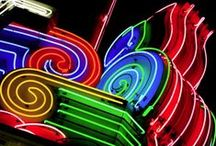 Signs of the Times 1 ~ Neon and Others,  Past and Present / by ☮ Todd Curtis ☮