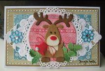 * Kerst & Nieuwjaar * / Kaarten en ander brievenbus geluk dat past bij het thema kerst.