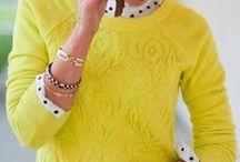 Желтый цвет в одежде / Yellow / С чем носить одежду желтого цвета.