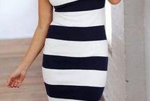 Черно-белая полоска / Black and white stripes / С чем носить одежду в полоску?