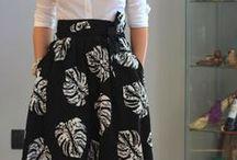 Юбки миди в деловом стиле / Midi skirt for office outfit