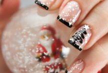 Christmas nails / Christmas nails, holiday nails, nail art, christmas tree, snow, santa, tutorial, nail polish  #christmas #nailart #nail #12daysnailchallenge #holidays