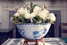 Blue & White / Blue and white porcelain and also some other colors too pretty not to save and look at...  / by rebecca mock