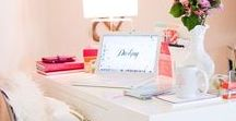∆ Home Office ∆ / Inspiration to improve my own home office! Would love to have Pinterest-worthy space of my own <3
