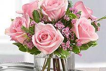 Floreros decorados / Areglos florales