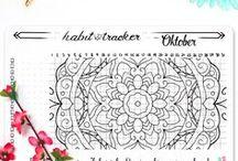 Deutsche Bullet Journaling Sticker / Du bist gerne kreativ und versuchst organisierter zu sein? Dann bist du hier genau richtig! Alle Bullet Journaling Sticker sind mit viel Liebe hangezeichnet um deine persönliche Planung noch besser zu machen.   Viel Spaß beim Stöbern auf wundertastisch.dawanda.de !