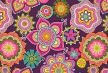 Flores coloridas / Tablero
