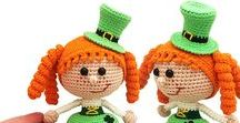 183 Crochet Pattern - Girl Doll in a St Patrick Leprechaun outfit / Your projects ETSY https://www.etsy.com/shop/LittleOwlsHut?ref=pr_faveshops&atr_uid=26006989&search_query=stelmakhova RAVELRY https://www.ravelry.com/bundles/dolls-in-different-outfits #littleowlshut #amigurumi #crochetpattern #crochetdoll