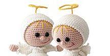 177 Crochet Pattern - Girl Doll in an Angel outfit / Your projects ETSY https://www.etsy.com/shop/LittleOwlsHut?ref=pr_faveshops&atr_uid=26006989&search_query=stelmakhova RAVELRY https://www.ravelry.com/bundles/dolls-in-different-outfits #littleowlshut #amigurumi #crochetpattern #crochetdoll