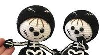 159 Crochet Pattern - Girl doll in a Halloween Skeleton outfit / Your projects ETSY https://www.etsy.com/shop/LittleOwlsHut?ref=pr_faveshops&atr_uid=26006989&search_query=stelmakhova RAVELRY https://www.ravelry.com/bundles/dolls-in-different-outfits #littleowlshut #amigurumi #crochetpattern #crochetdoll
