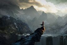 """A World of Dungeons & Dragons: Journey Through Forgotten Realms / """"Our life is a journey Through winter and night, We look for our way In a sky without light."""" --Song of the Swiss Guards, 1793"""
