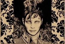 Vania Zouravliov ♦ Illustrations / Inspired by sources as seemingly opposite as Russian folklore, Japanese illustration, and pop culture. Vania's intense emotional style evokes a nostalgia rooted in the artist's Russian background that is reminiscent of the imagery used in that country's silent and art house movies. His dark motifs are intricately layered and full of powerful symbolism. They often feature provocative sadomasochistic references that represent the vulnerable relationship between innocence and affliction.