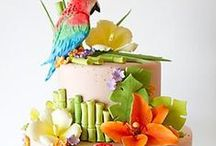 CAKES..Beach  / Tropics Weddings / Tropical, formal, fun or elegant ,,,,,