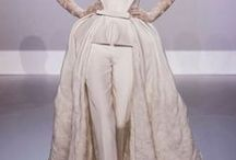 wedding .... trouser s for the bride / Not a concept  I agree with, BUT, ideal for bunji jump wedding vows, riding off on the Harley or a cycle, vows hanging off a cliff etc  best of bunch have detachable skirts ...party night away..