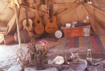 Bohemian Style / Music playing souls and free spirited nomads.