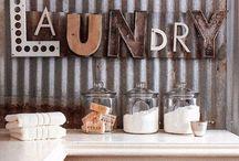 It's in the wash! / Laundry room Ideas, designs, decor etc.