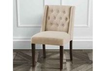 Huxley Wing Dining Chairs / http://www.my-furniture.co.uk/chairs/upholstered/huxley-wing-chair/