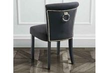 Positano Upholstered Chairs & Barstools with Back Ring / http://www.my-furniture.co.uk/chairs/upholstered/positano/