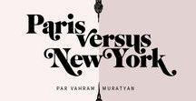 Collection Paris vs New York / Paris vs New York : Ce match visuel et amical entre ses deux villes de cœur mêle un design de lignes pures aux aplats de couleurs franches. Découvrir la collection : http://image-republic.com/fr/33-vahram-muratyan