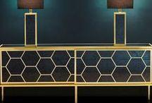 Geometric Metallic Furniture