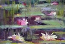 bloemen en landschap