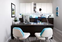 Home Office / A built-in in office provides far better and more durable storage than a mix of individual furniture pieces. Although it may cost more at the outset to install this type of office, it will deliver much more back over the long run!