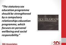 Sex and Relationships Education / 3Di Associates are specialists in SRE. Quotes from our blog.