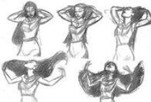 Gesture / A compilation of gestures and poses. A drawing looks so much more real when you can tell what the character is thinking just by looking at their face!