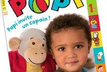 POPI / Popi, le premier magazine pour les bébés, est né lorsqu'on s'est aperçu que plus on ouvrait les livres aux bébés et plus ils développaient leurs capacités à parler et à comprendre...