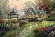 "~Artist Thomas Kinkaid~ / ""Painter of Light"" / by Darlene Hoskins"
