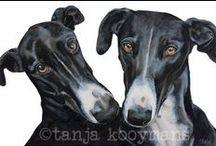 Greyhound Art & Galgo Español Art / Watercolour paintings & Art prints by Tanja Kooymans Art  http://www.tanjakooymans.nl - https://www.etsy.com/shop/TanjaOnTheWall - www.facebook.com/TanjaOnTheWall