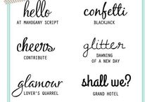 fonts, hand-lettering, & typography / fonts, hand-lettering, & typography