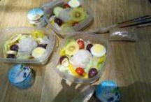 home made veggie meal. / veggie food through my hand.