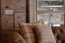 Scottish Home Style / Everything herringbone and traditional Scottish inspired. Think traditional log cabin with a modern twist!