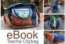 Citybag / Wunderschöne Taschen, genäht nach meinem Schnittmuster: Tasche Citybag