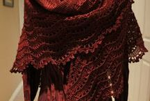 Knitted scarves/shawls / by Nancy Wright