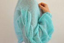 Вязанные вещи / Кардигана, свитера, шапки, пальто, шарфы