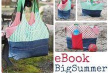 Tasche BigSummer / Designbeispiele für das Taschenschnittmuster / EBook BigSummer von Keko-Kreativ.
