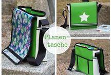 Planentasche LKW-Plane / EBook Nähanleitung Planentasche Tasche aus LKW-Plane  Designbeispiele für eine tolle Tasche mit Überschlagdeckel