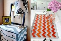 Crafting: Chevrons / Chevrons are all the rage! Here are some of our favorite projects.