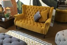 Velvet Sofas & Chairs / Sumptuous velvet chairs and sofas, as well as accessories - all the sofas you see here can be upholstered in velvet! Smooth as...