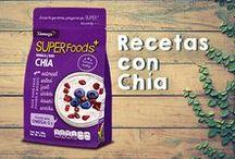 Recetas con Chía / Deliciosos platillos en cuya preparación no puede faltar la semilla de chía. #Chia #ChiaSeed #Recetas