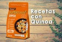Recetas con Quinoa / Ricas ideas para preparar #Quinoa en variedades dulces y saladas, preparadas con #Xiomega3SuperFoods