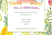 40th Birthday Hawaiian Theme / Party in a box - Hawaiian theme party  40th Party decor