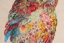 Embroidery & Textile Art / Embroidery and textile arts, beautiful textures and colours.