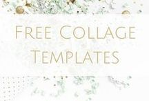 Free Collage Templates / All the free collage, storyboard, inspiration board, mood board templates we can find.