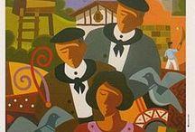 Affiches Basques vintage