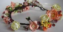Flower hair garlands, pieces, crowns, pins, accessories by ProjectGallias / http://projectgallias.blogspot.com
