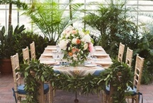 wedding inspiration / decorations, centrepieces, flowers, venues